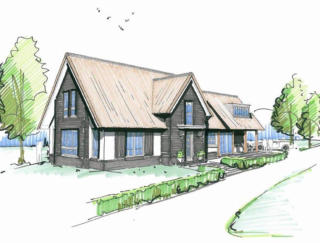 Villa koninginnenpage architectuurwonen for Woning laten bouwen