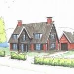 Schetsontwerp huis bouwen te Nieuwendijk