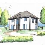Schetsontwerp villa te Aerdenhout