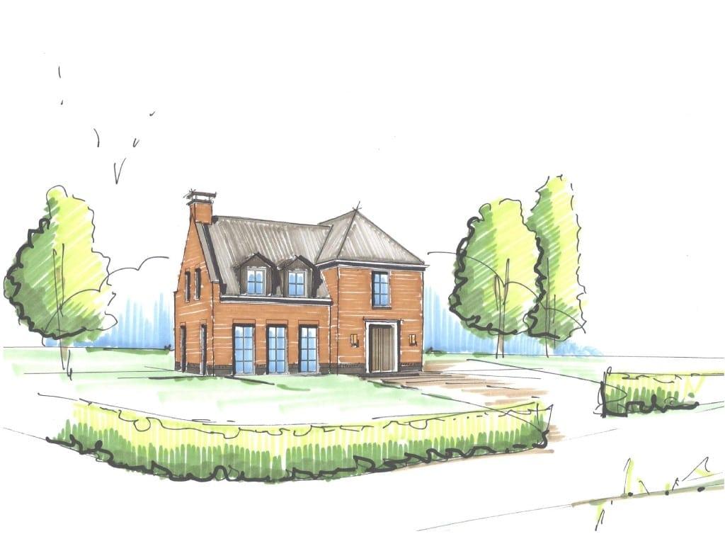 Villa kleine vuurvlinder   architectuurwonen