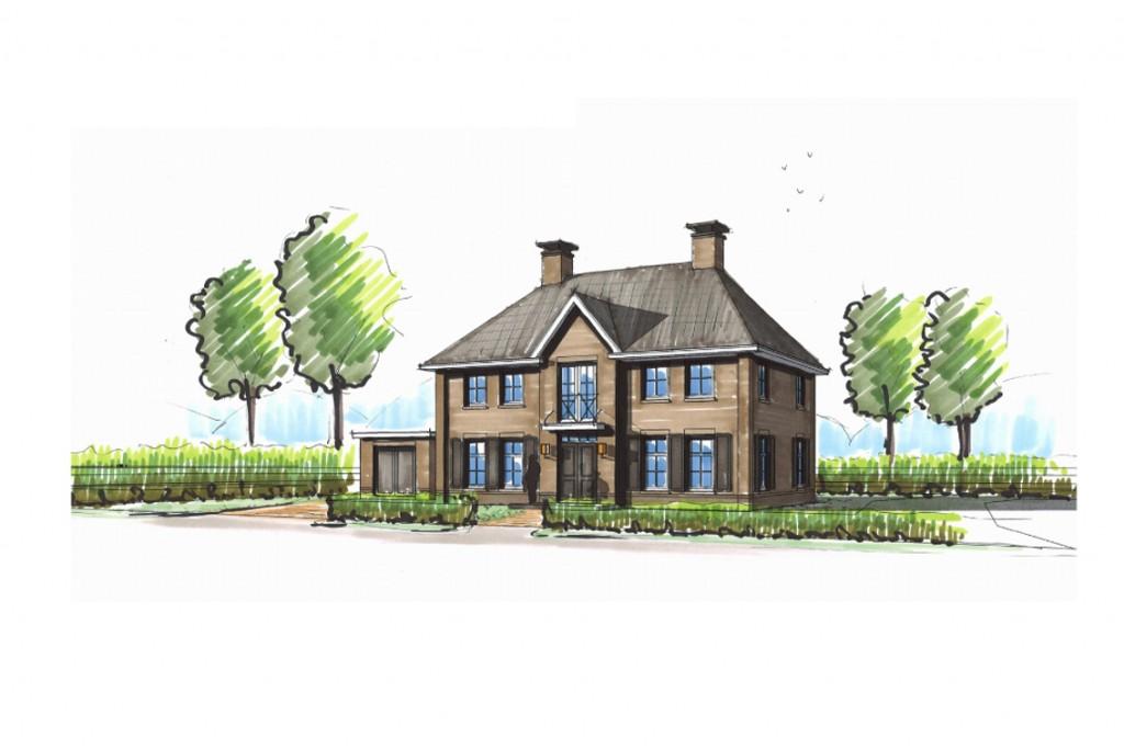 Schets villabouw