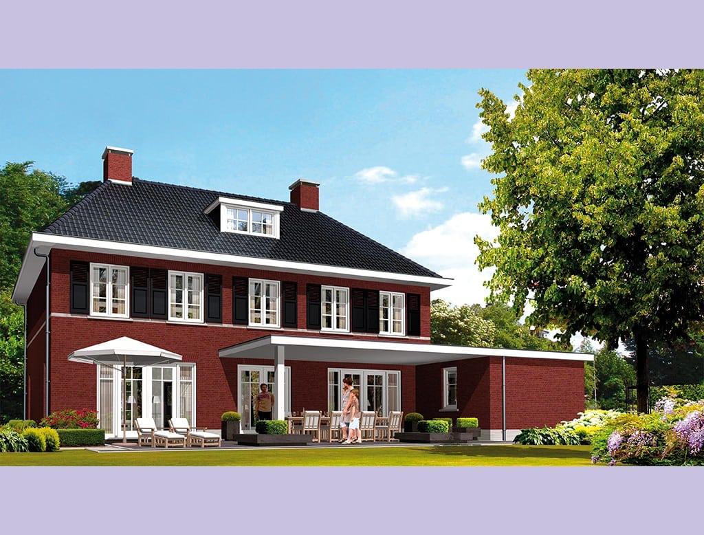 Villa nachtpauwoog architectuurwonen - Rode bakstenen lounge ...