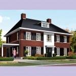 Huis bouwen Nachtpauwoog voorzijde rode bakstenen