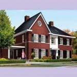 Huis bouwen Nachtpauwoog voorzijde uitbouw rode bakstenen