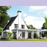 Villa bouwen Tandvlinder achterzijde