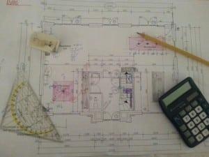 Tekenen en rekenen bouw villa