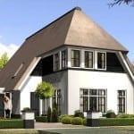 Villabouw Aurelia vergroot wit voorgevel