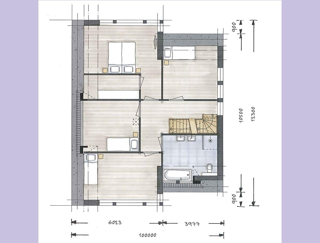 Villa boswitje architectuurwonen for Grondplan badkamer