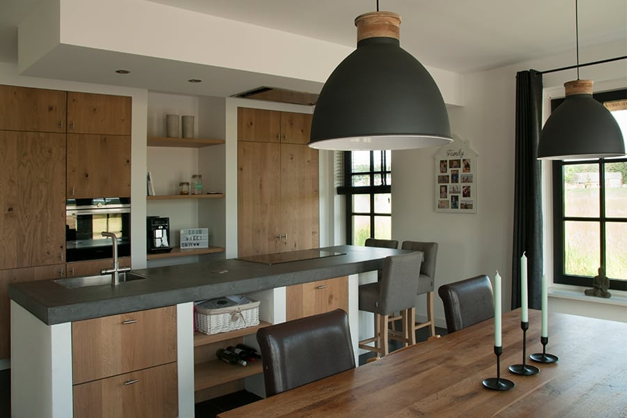 Villa-bouwen-landelijke-keuken