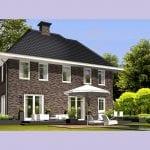 Villa bouwen Vliervlinder traditioneel gevelsteen achtergevel - Architectuurwonen.nl