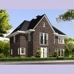 Villa bouwen Vliervlinder traditioneel gevelsteen voorgevel - Architectuurwonen.nl