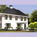 Villa bouwen Vliervlinder wit keimwerk achtergevel - Architectuurwonen.nl