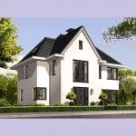 Villa bouwen Vliervlinder wit keimwerk voorgevel - Architectuurwonen.nl