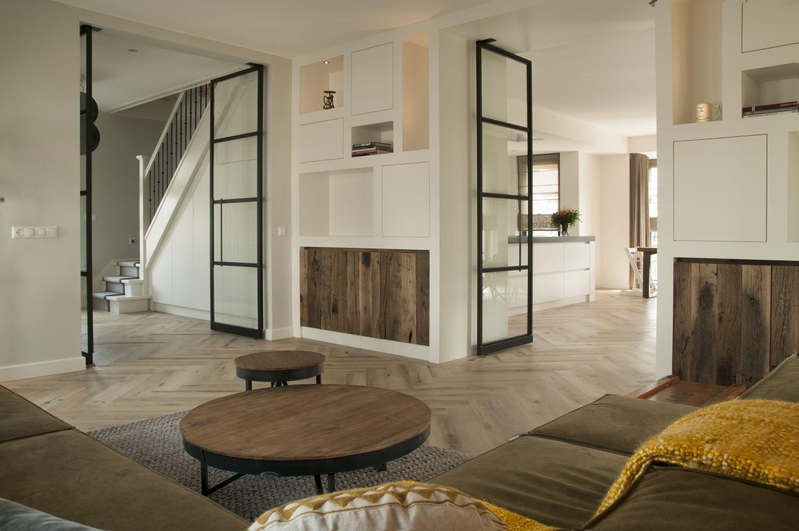 Gerealiseerde villa Boswitje te Oegstgeest - Architectuurwonen - zitkamer